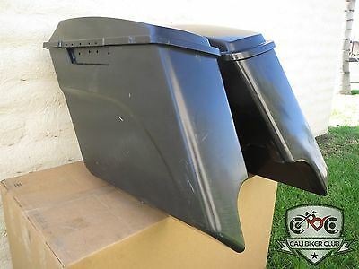 "5"" Extended Hard ABS Saddlebags Stretched for Harley-Davidson Touring FLH FLT"