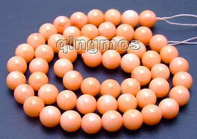 """5mm Round Pink natural Coral Beads for Jewery Making Necklace Strand 15""""-los594"""