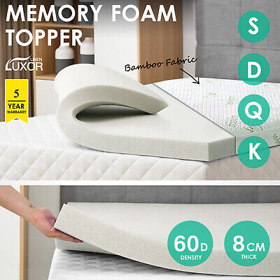ALL SIZE-1000GSM Luxury Pillowtop Mattress Topper Protector Pad Underlay COVER