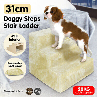 NEW 30cm DOGGY STEPS DOG RAMP PET CAT STAIRS - SOFT WASHABLE COVER