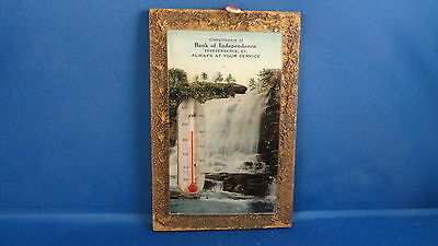Vintage Working Thermometer Advertising Bank of Independence Kentucky