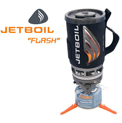 JETBOIL FLASH - Jet Boil Fast Compact Hiking Camping Gas Stove Cooking System