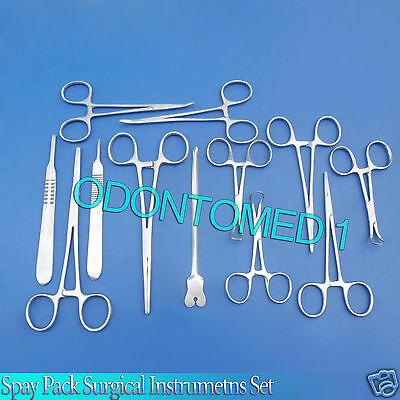 20 PCS. SPAY PACK KIT Surgical Veterinary Instrument OR DS-1092