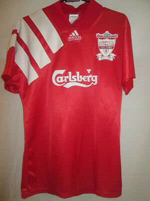 "Liverpool 1992-1993 Home Football Shirt Size 34""-36"" and 32"" shorts /19500"
