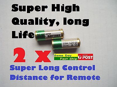 2 x New Fresh Super 23A 21/23 A23 23A 23GA 23AE 12V Alkaline Battery AU Local