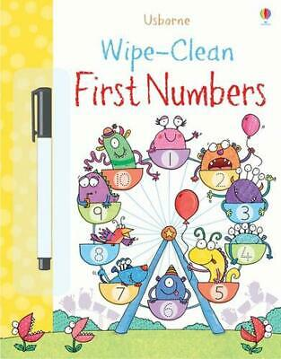 Wipe-clean First Numbers by Jessica Greenwell & Kimberley Scott Paperback Book F
