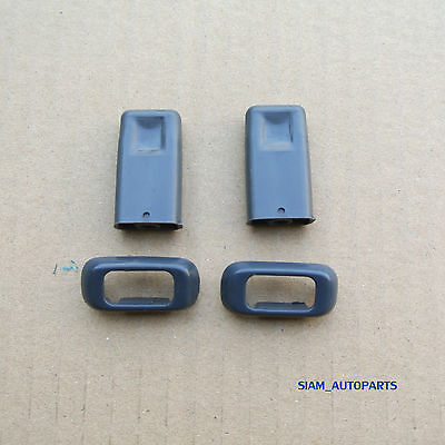 2 x  DOOR LOCK KNOB AND SURROUND TOYOTA HILUX MIGHTY-X RN85 RN90 LN85 88 - 97