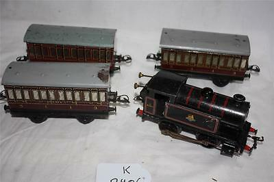 O Gauge  Tank Loco And 3 Lms Coachs Has Key Runs Ok Forw And Back  [2406]