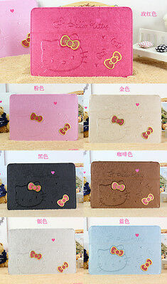 Hello Kitty Cute Bow Leather Stand Case Cover For iPad Mini