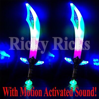Light-Up Ninja/Pirate Buccaneer Sword LED With Motion Activated Sound Blinking