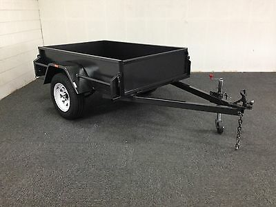 HEAVY DUTY 6x4 Heavy Duty Box Trailer High Sides, New Tyres & Jockey Wheel