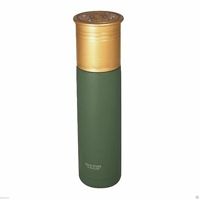 Jack Pyke Cartridge Flask Thermal Stainless Green Hot Cold Drinks Shotgun Gift