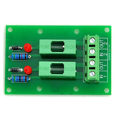 2 Channel Fuse Board, with Fuse Fail Indication, for 100~250VAC.