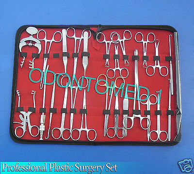 36 Pcs Professional Plastic Surgery Set Surgical Instruments