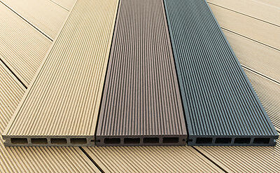 Wpc composite plastic decking board smoked oak for 5 metre decking boards
