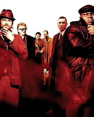 Snatch cast movie photo Brad Pitt Vinnie Jones Jason Statham Poster Print 24x20""