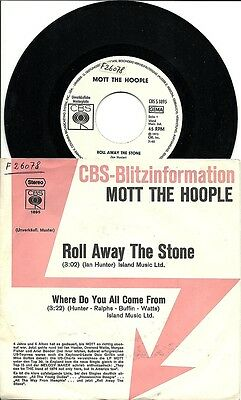 Single / MOTT THE HOOPLE / PROGRESSIVER ROCK / MUSTERPLATTE / RARITÄT /