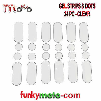 Strips And Dots Clear 24 Pack Sticky Dashes Dots Gel Repair Motorcycle Tank