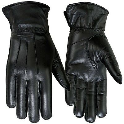 Ladies Dress Gloves Genuine Leather Soft Thermal Lined Glove Black Size 8