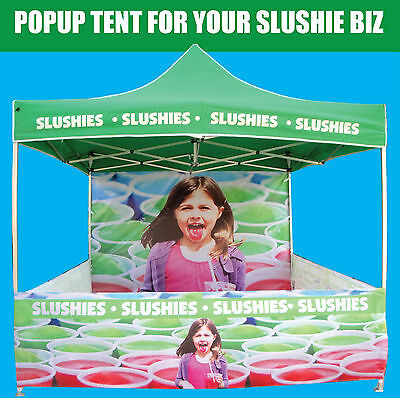 SLUSHIE MACHINE POP-UP TENT **2M*2M***.  Great for Slushy, Floss and SnoCone