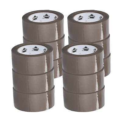 """12 Rolls Brown Tan Packaging Packing Tape Shipping 2"""" 2.3 Mil 110 yd 330'"""