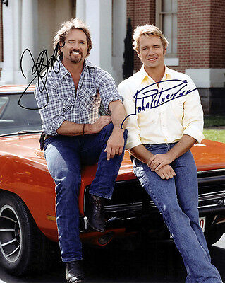 Dukes Of Hazzard 01 John Schneider & Tom Wopat Cast Signed Photo Print