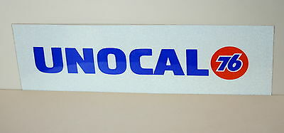 2 Unocal Union Oil Promo Reflective Bumper Sticker New NOS 1990s