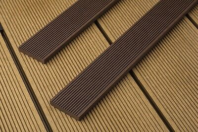 Composite decking graphite 10 square meter pack incl for 5 metre decking boards