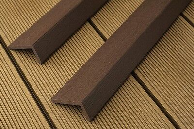 Wpc composite plastic decking board smoked oak for 2 4 metre decking boards