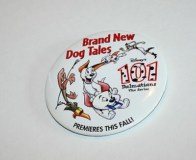 Walt Disney 101 Dalmations Dog Tales Series Premier Button Pin New NOS