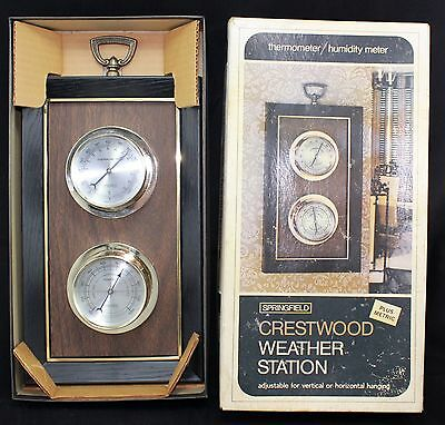 vintage old  Springfield new in box Weather Station THERMOMETER  HUMIDITY Mtr,