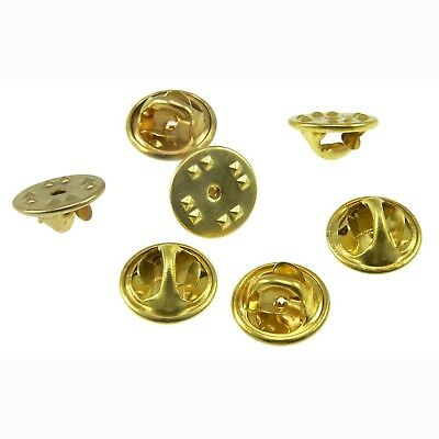 Lot 50 Gold Brass Military Police Pin Backs Clutch Clasp Catch Fastener