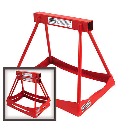 "Jack Stands Set Of 2 Steel Stack 14"" Tall Powder Coated Red Drag Joes Quickcar"