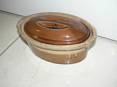 Antique Vintage French Pottery Terra Cotta Glazed Signed Kitchen 8