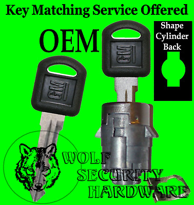 Buick Chevy GMC Isuzu Olds Single OEM Door Lock Key Cylinder W/ 2 Keys 705361