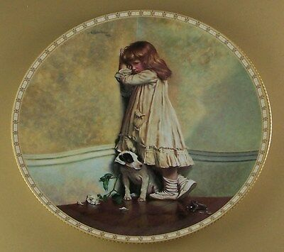 "A Victorian Childhood THE ORIGINAL ""IN DISGRACE"" Plate #1 Royal Doulton Dog"