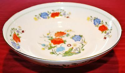 Aynsley FAMILLE ROSE Floral Footed Round Fruit Bowl