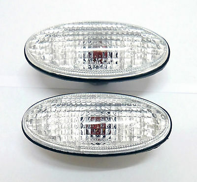 CLEAR Side Indicators Repeaters For Nissan March K11 Navara D22 Silvia 200SX