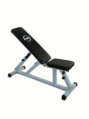 Positions Adjustable Dumbell Weight Bench Flat Incline Home Gym Utility Fitness