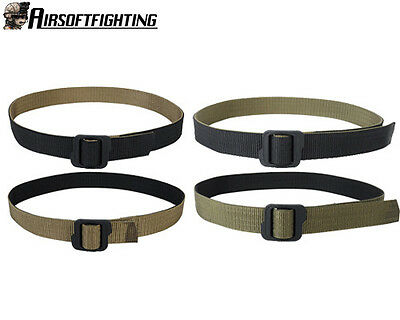Tactical Military Nylon Double-sides Belt w/ Buckle Black&Coyote Brown M-XXL A