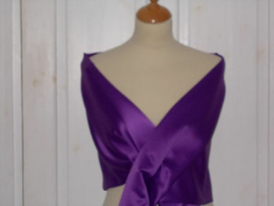 Cadbury purple  satin wrap/stole