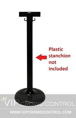 Plastic Stanchion Sign Holder Bracket (Package Of 4 In Black), Vip Crowd Control