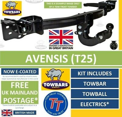 Towbar for Toyota Avensis Hatchback & Saloon 2003 to 2009 (T25) Flange Towbar