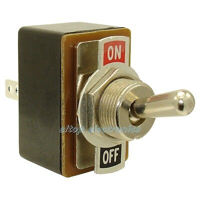 Toggle Switch with Plate Double Pole ON-ON Flick 250V 1.5A Car Dash Light