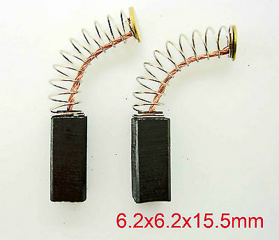 Pair Carbon Brushes Replaces Bosch 2.604.321.912 2604321912 6.2mm x 6.2mm  S12