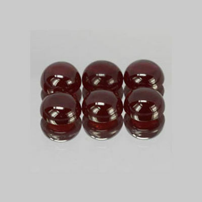 5mm 6pc Round CABOCHON Cut Natural Red Garnet