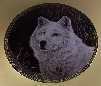 The American Wilderness SILENT WATCH Plate Martiena Richter Wolf Wolves + COA