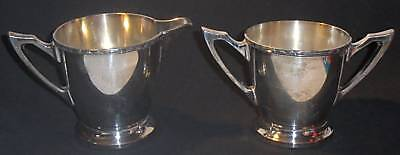 Poole Silver Co. Silver Creamer & Sugar Pattern #3119