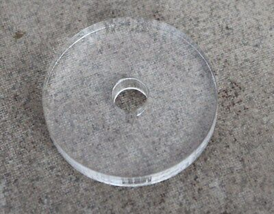 New Custom 45 Rpm Record Turntable Center Adapter -Clear Tone Acrylic