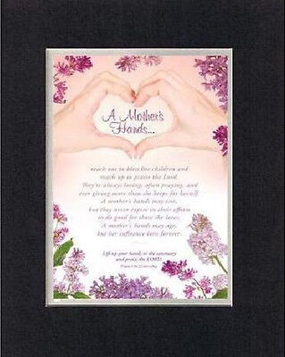 Heartfelt Poem For Mother's Day - A Mother's Hands Rach Out on 8x10 Double Mat
